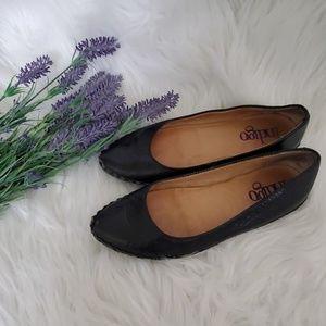Indigo by Clark's black leather ballerina flats